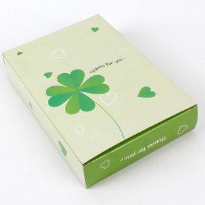 종이케이스 타올 선물 답례품상자 포장박스 (클로버)