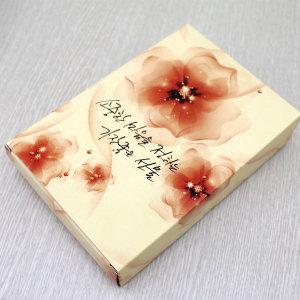 종이케이스 선물 답례품상자 타올 포장박스 (플라워)