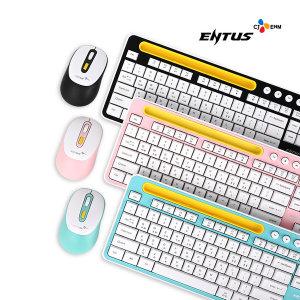 CJ ENM N ENTUS EWKM-01 무선 키보드 마우스 (핑크)