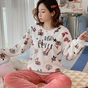 수맘 12%쿠폰 겨울 수면 기모 홈웨어 잠옷 세트