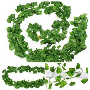 인조 넝쿨 장식 담쟁이 식물 인테리어 조화 수박잎