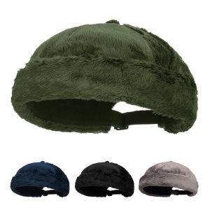 케로로 남녀공용 밍크 와치캡 퍼 숏비니 겨울모자