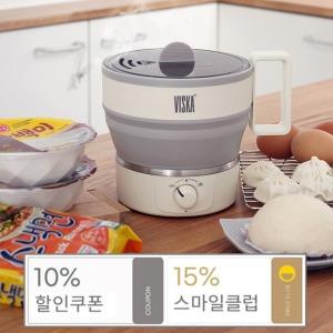 비스카 접이식 전기라면 포트 VK-S1600NK 즉석밥 캠핑