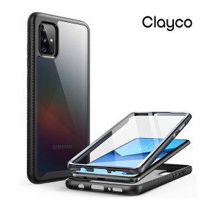 Clayco 갤럭시A51 풀커버 핸드폰케이스 보호필름 범퍼