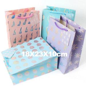 종이쇼핑백 선물가방 종이 포장가방 /중형 홀로그램