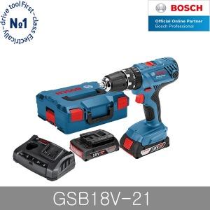 보쉬 GSB18V-21 충전해머드릴 3.0Ah 배터리 2개 임팩
