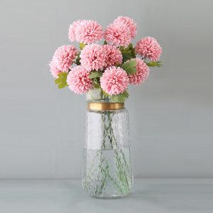 더설렌 인테리어소품 두송이 국화 조화(핑크) 꽃장식