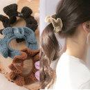 프릴 뜨게 곱창밴드 여성 머리끈 곱창끈 곱창머리끈