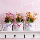 더설렌 들꽃 도자기 미니 조화화분 (색상랜덤)