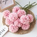 더설렌 인테리어소품 한송이국화조화(체리핑크)꽃장식