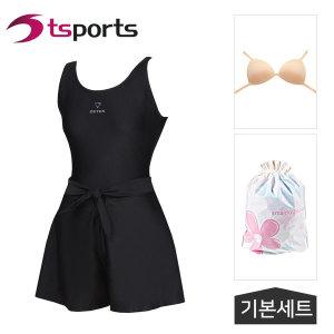 여성 비치 실내 원피스+치마바지 수영복 LSW-46270