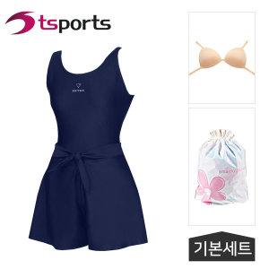 여성 비치 실내 원피스+치마바지 수영복 LSW-46269