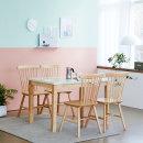 대리석 4인용 식탁세트/카페/주방/4인/의자형 캘빈토토