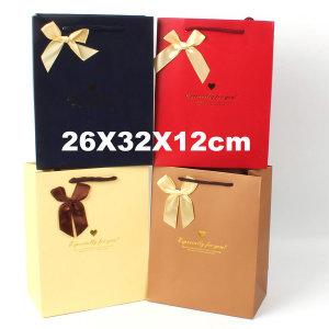종이쇼핑백 선물가방 종이가방 포장가방 /대형 리본