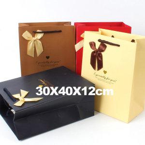 종이쇼핑백 선물가방 종이가방 포장가방 /특대형 리본