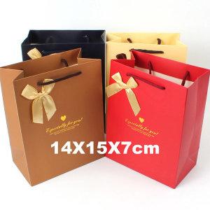 종이쇼핑백 선물가방 종이가방 포장가방 /소형 리본