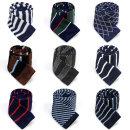 고급 니트 넥타이 스트라이프 체크 무늬 17종 스타일
