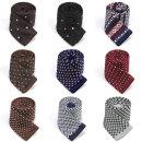 고급 니트 넥타이 도트 패턴 무늬 슬림 9종 스타일