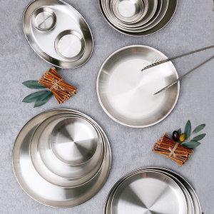 스텐 스테이크 브런치 디저트 캠핑 접시 그릇 식기