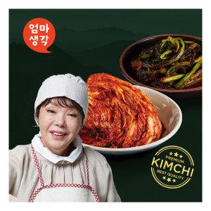 김수미 엄마생각 더 프리미엄 김치 7kg+ 갓김치 2kg