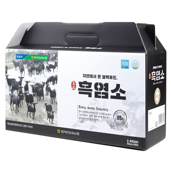 충북인삼농협 자연방목 흑염소진액 2박스(80mlX60포)