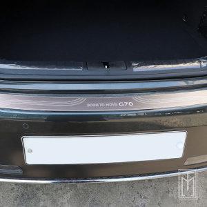 제네시스G70 트렁크 범퍼 메탈 커버 악세사리 몰딩 G7