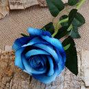 더설렌 인테리어소품 한송이 장미 조화(블루)꽃장식