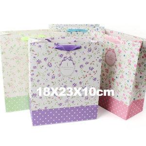 종이쇼핑백 선물가방 종이가방 포장가방 /중형 플라워