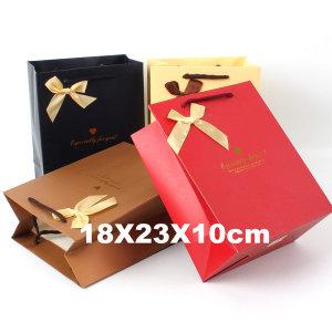 종이쇼핑백 선물가방 종이가방 포장가방 /중형 리본