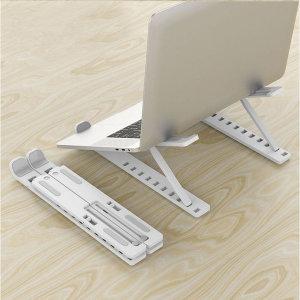 10단 노트북거치대(화이트) 접이식 10단각도조절