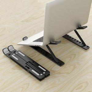 10단 노트북거치대(블랙) 접이식 10단각도조절