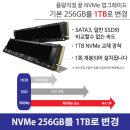 NVMe 256GB에서 총 1TB로 Upgrade 250 G8용