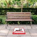 금연 바닥 스티커 금연구역 금속특수시트 300x300