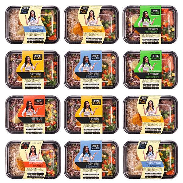 정인혜의 맛있는 집밥도시락 12팩/식단관리/식단조절