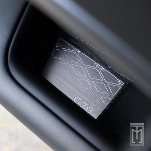 제네시스G70 도어포켓 포인트 드레스업 메탈 커버몰딩