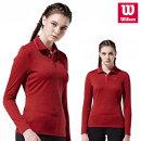 윌슨 여성 기모티셔츠 3632 레드 긴팔티셔츠 단체복
