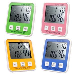 4컬러 이모티콘 디지털 온습도계 전자 온도계 무료배송