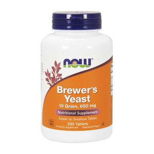 나우 푸드 맥주효모 650 mg 200 타블렛 비오틴 비타민B Now Foods