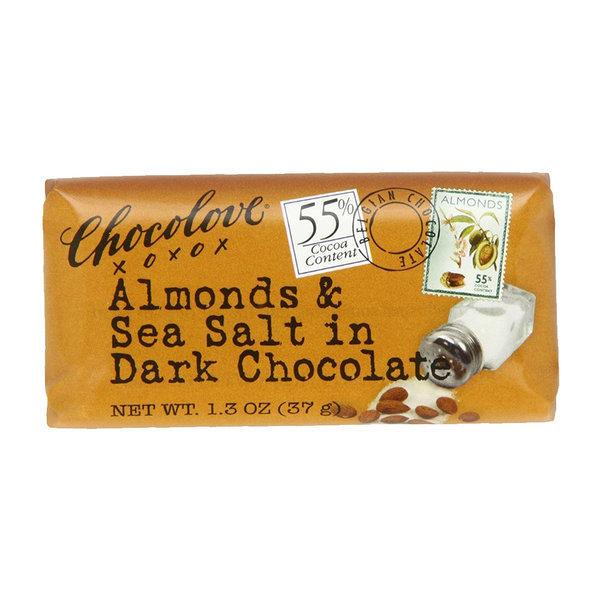 CHOCOLOVE 카카오 55% 아몬드 앤 씨 솔트 다크 초콜릿 37 g