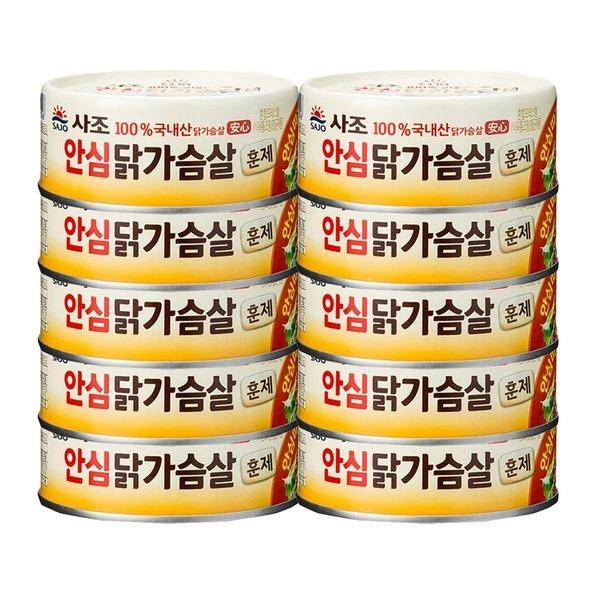 리얼훈제닭가슴살90g 10개