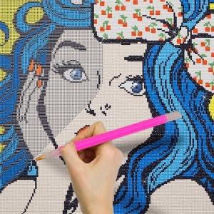 액자형 DIY 보석십자수 명화그리기 비즈 그림 큐빅
