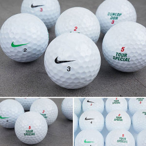 나이키+던롭 흰볼 2 3 피스 등급선택 로스트볼 골프공