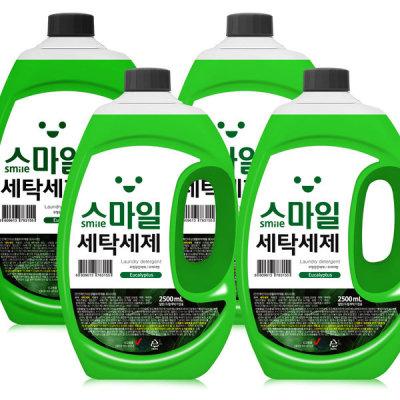 [아토세이프] 고농축 유칼립 액체세제 2.5L X 4개 세탁 총10000ml