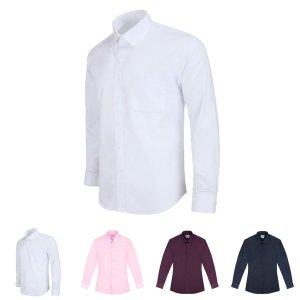 (사이즈 105) 레귤러 남자 흰색 화이트 정장 긴팔셔츠