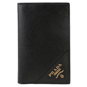 21SS 2MC101 QME F0632 남성 사피아노 카드 지갑 골드 블랙/ 프라다