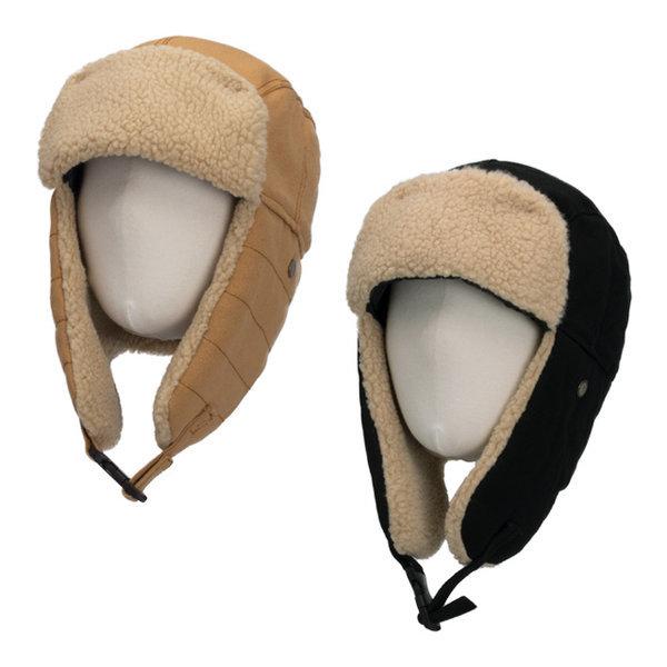 오로라 뽀글이 양털 군밤모자 귀달이모자