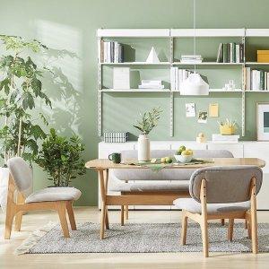 포레 릴렉스 NEW 4인 식탁 벤치세트(의자2 벤치1포함)