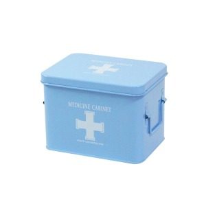 철제구급상자/구급함/구급약상자/약통 (중형) 블루