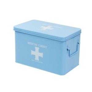 철제구급상자/구급함/구급약상자/약통 (대형) 블루