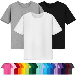 무지 반팔티/흰티/면티/티셔츠/남자/여자/아동/단체티
